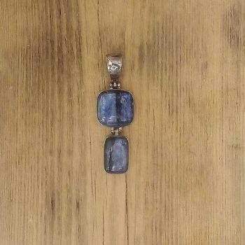 Designer 2 Stone Kyanite Pendant